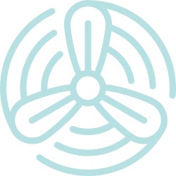 Air flow fan icon